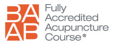 Our Acupuncture courses are accredited by the British Acupuncture Accreditation Council (BAAB)